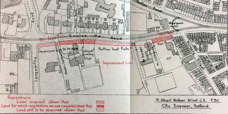 Plan showing 1938 improvements to Eccles Old Road