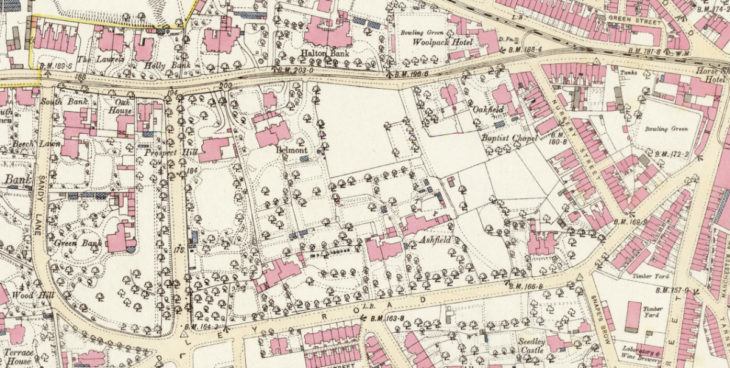 1893 OS map of Belmont