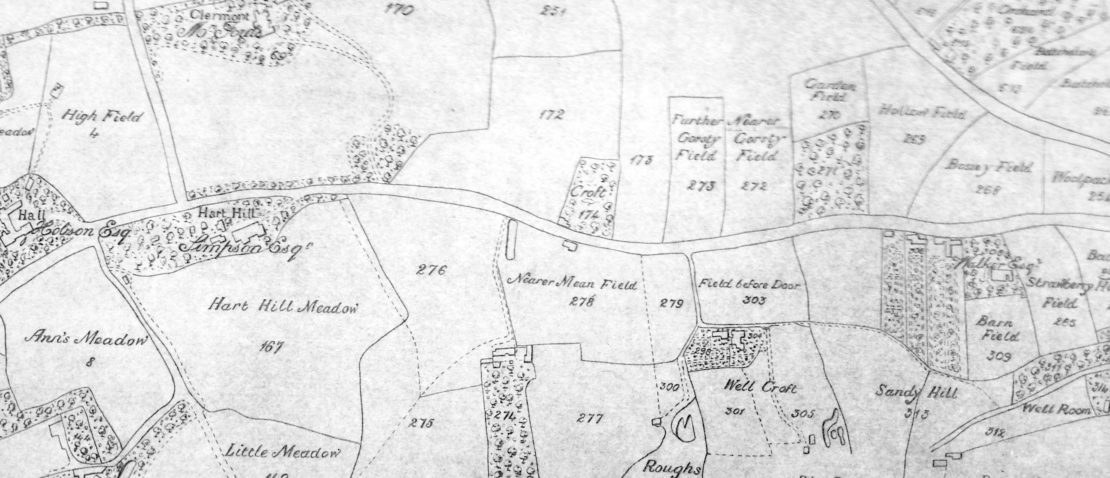 Pendleton Township Map 1815 - Claremont / Hart Hill