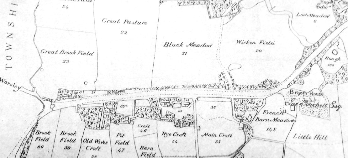 Pendleton Township Map 1815 - Broomhouse Lane